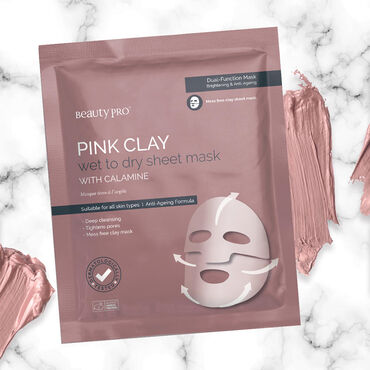 Beauty Pro Pink Clay Brightening & Anti-aging Mask