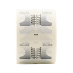 JEAN MARIN Clear Nail Forms Square 500pcs