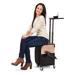 Sibel Worktable Stoolcase Rollercoaster Rose Gold