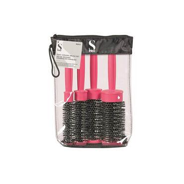 S-PRO Brush Heat Retainer Set Pink